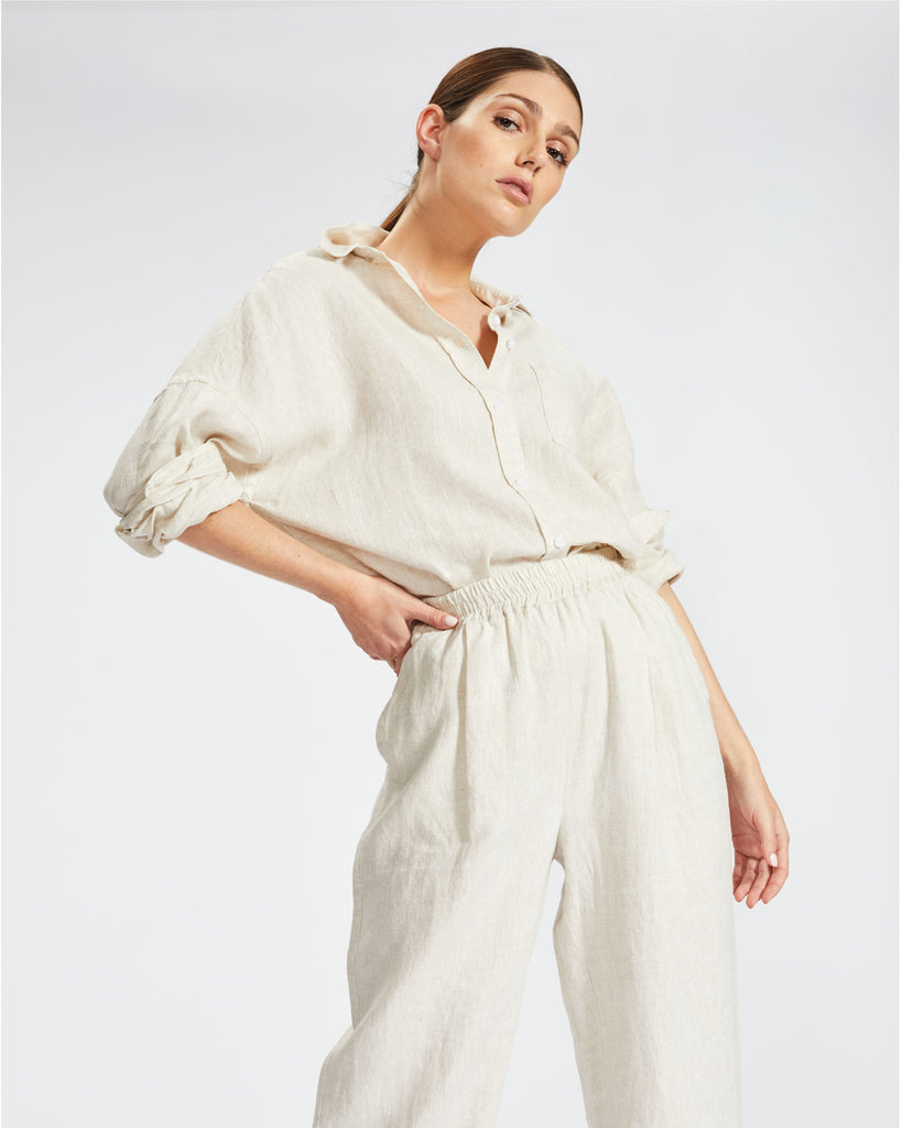 The Marala Shirt - Natural Linen