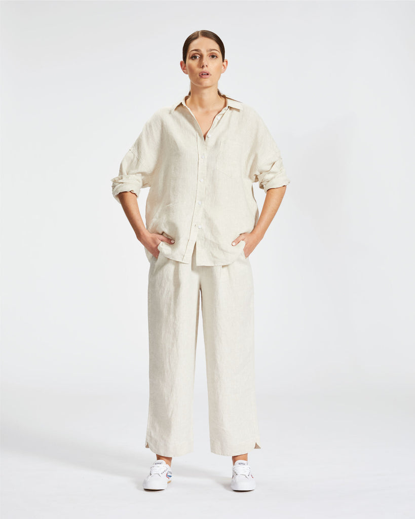 Marala Pants - Natural Linen