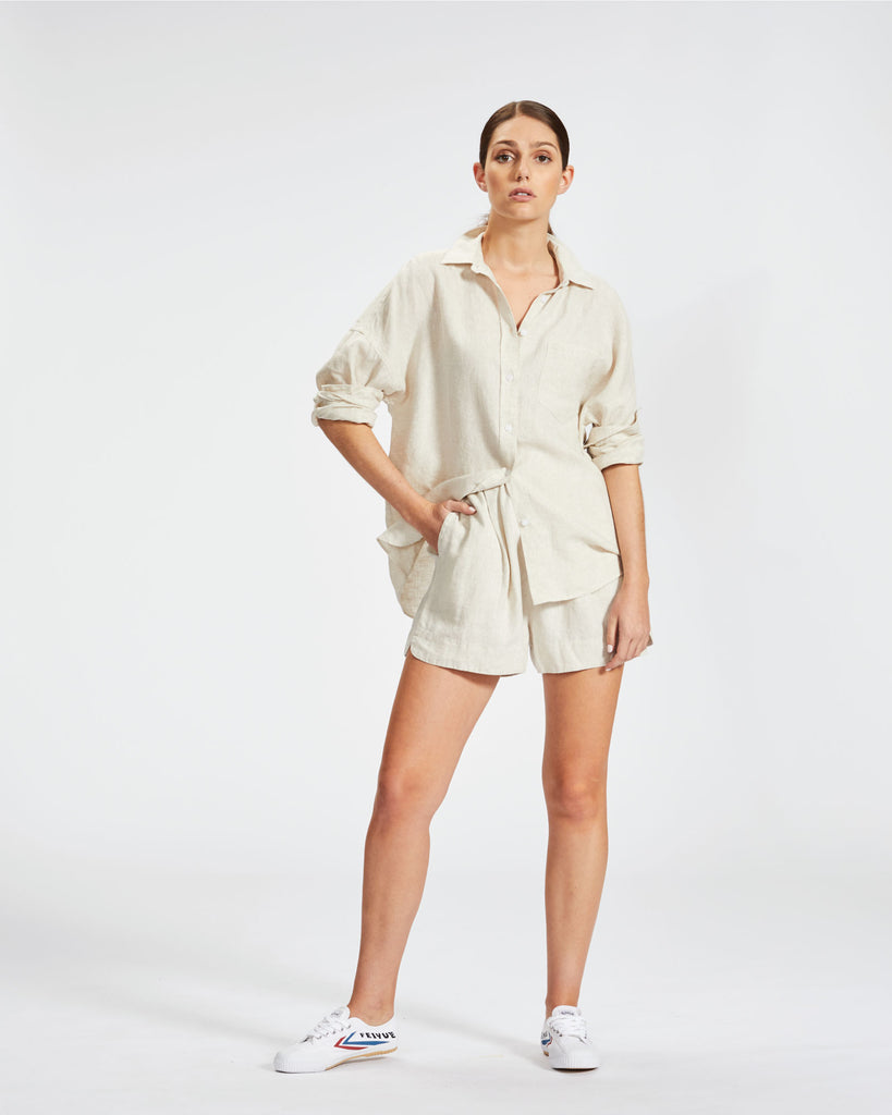 The Marala Short - Natural Linen