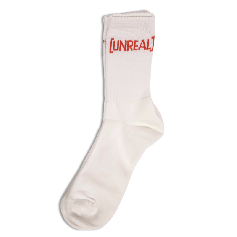 UNREAL - BASIC WHITE/RED zokni