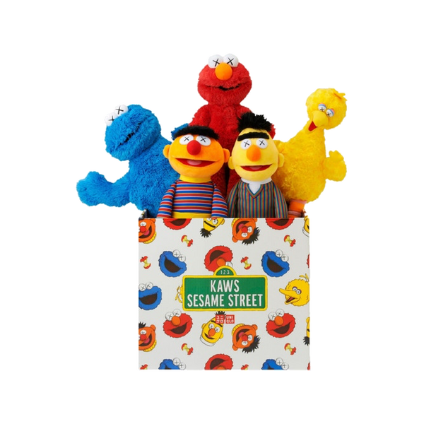 KAWS UNIQLO SESAME STREET PLUSH BOX