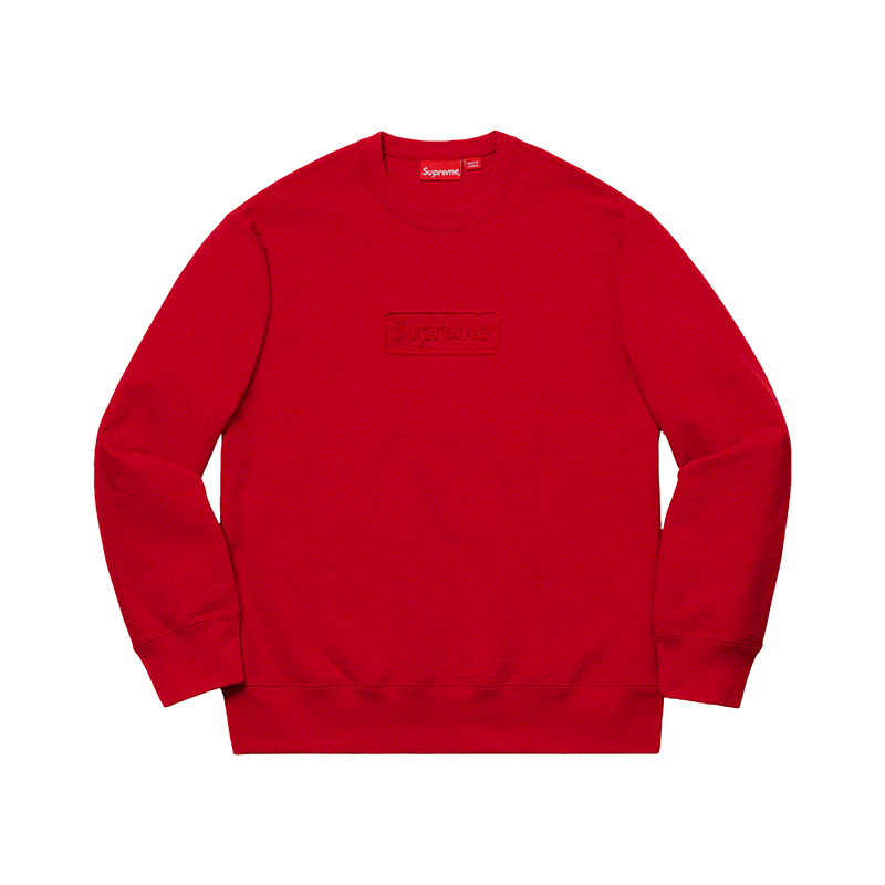 Supreme Box Logo Cut Out Crewneck Red