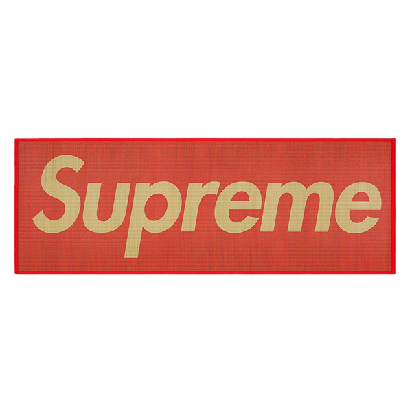 Supreme Woven Straw Mat Red