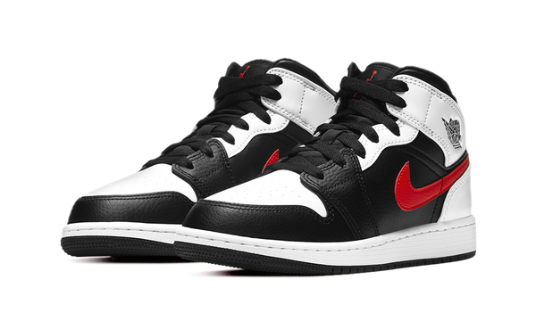 Air Jordan 1 Mid Black Chile Red White