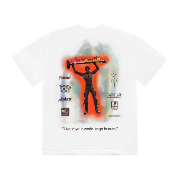 Travis Scott The Scotts Rage Emote T-Shirt White