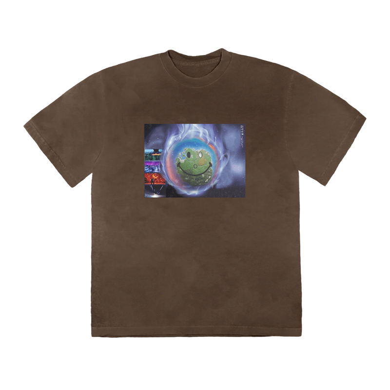 Travis Scott World Event T-Shirt Bleached Black