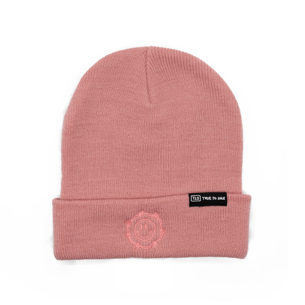 True to Sole - Guarded Smile Beanie Salmon