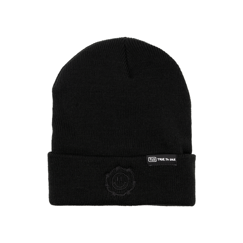 True to Sole - Guarded Smile Beanie Black