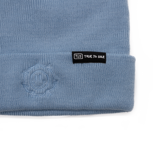 True to Sole - Guarded Smile Beanie Blue