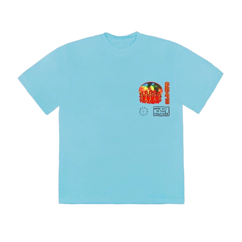 Travis Scott Cactus Jack C/O 2020 T-Shirt Light Blue