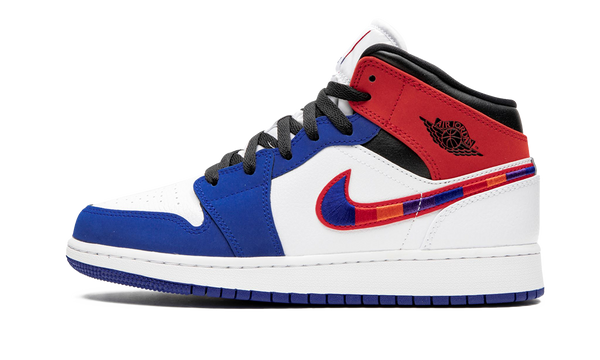 Air Jordan 1 Mid Multicolor Swoosh (GS)