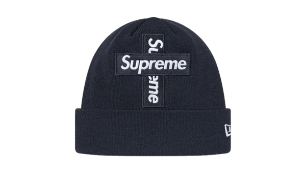 Supreme Cross Box Logo Beanie Navy