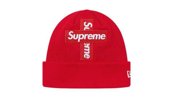 Supreme Cross Box Logo Beanie Red