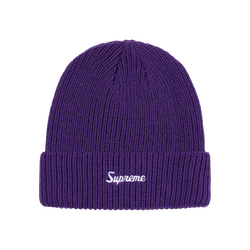 Supreme Loose Gauge Beanie Purple