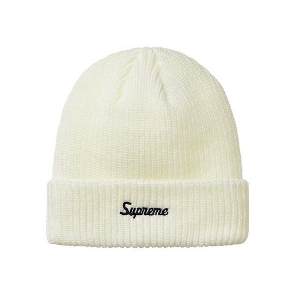 Supreme Loose Gauge Beanie White