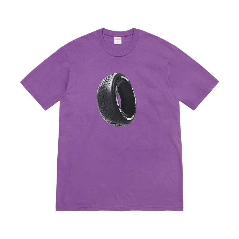 Supreme Tire Tee Purple