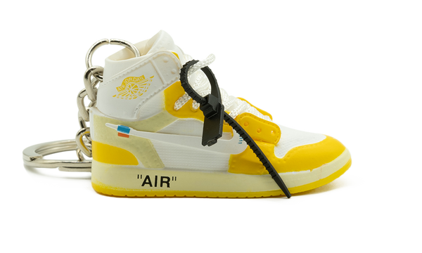 "Off-White x Air Jordan 1 High ""Canary Yellow"" Kulcstartó"