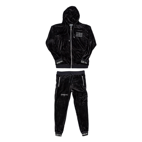 UNREAL - PLUSH TRACKSUIT SET BLACK
