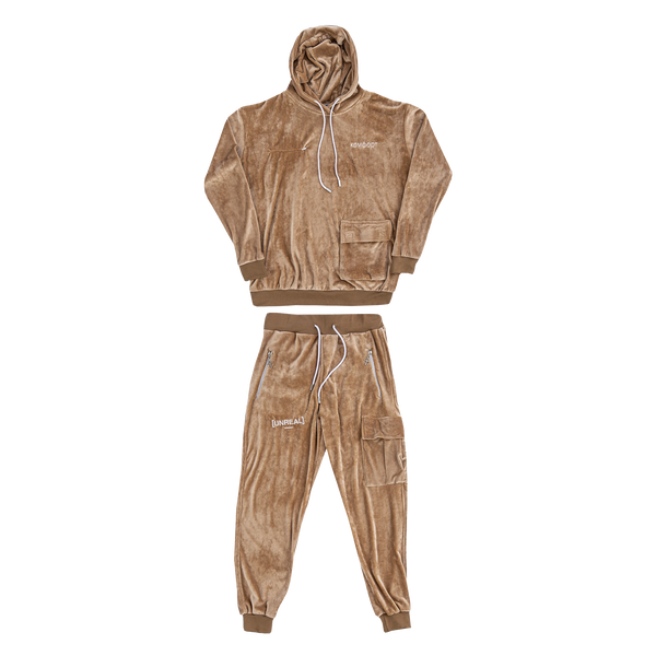 UNREAL - PLUSH TRACKSUIT SET SAND