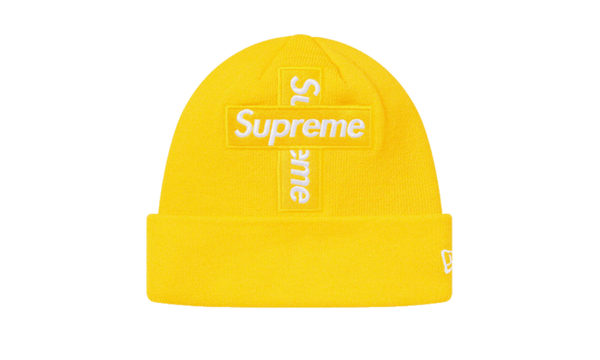 Supreme Cross Box Logo Beanie Yellow