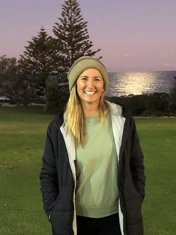 Ladine at her local Shelly Beach Golf Course