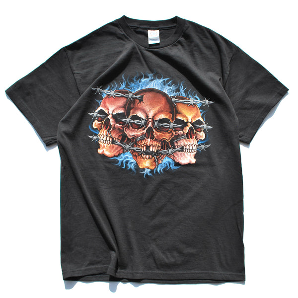 Vintage Barbed Wire Skulls Tee