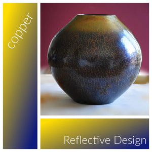 Hand-Hammered Blue-patina Copper Vases | Shimakura