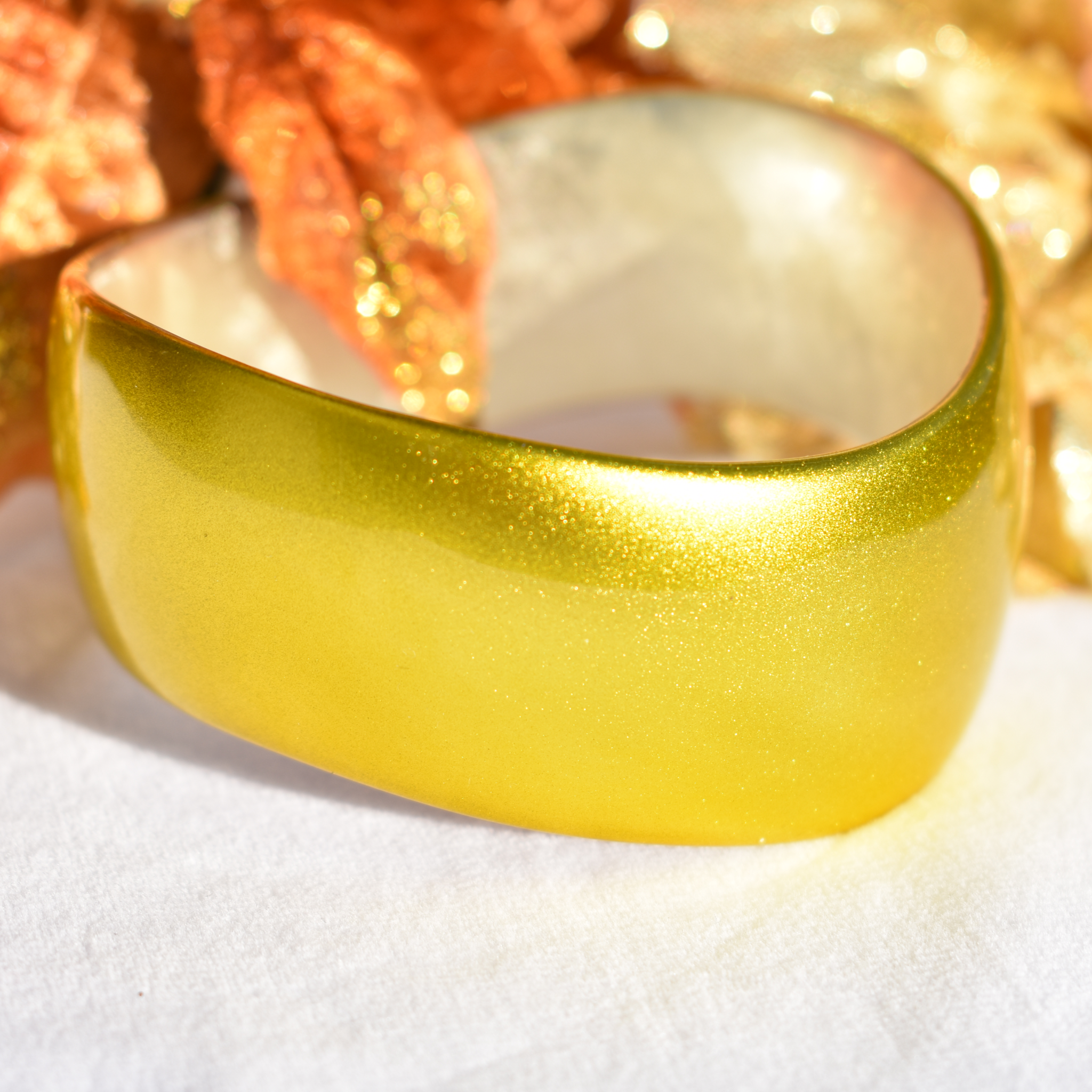Lemon Gold Urushi Lacquer Bangle
