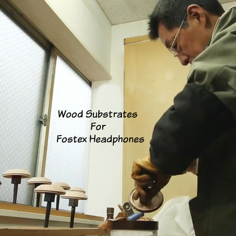 Creating Wood Substrate for Urushi Fostex Headphones
