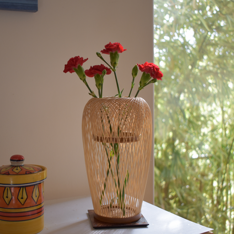 Suruga Bamboo Basketry Vase:  Breeze - Alfan Select