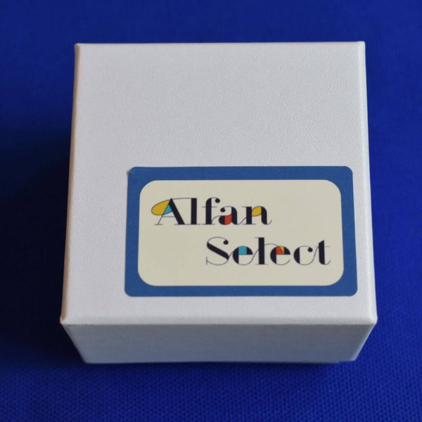 Alfan Select White Gift Box For Urushi Lemon Gold Pierced Earrings