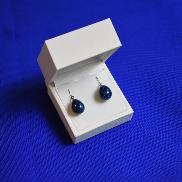 Satiny Urushi | Starry Night Blue Pierced Earrings - Alfan Select