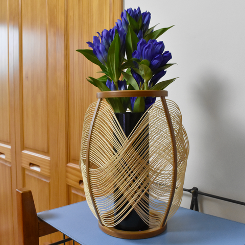 Suruga Bamboo Basketry Vase:  Embrace - Alfan Select