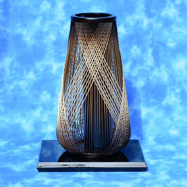Suruga Bamboo Basketry Vase:  Deep Forest - Alfan Select