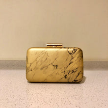 Load image into Gallery viewer, Marble Clutch Gold