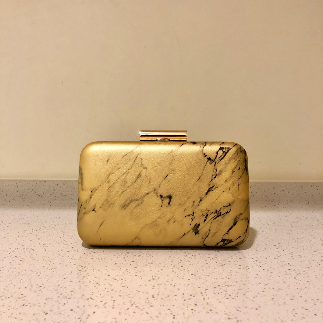 Marble Clutch Gold