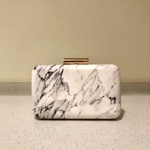 Load image into Gallery viewer, Marble Clutch White