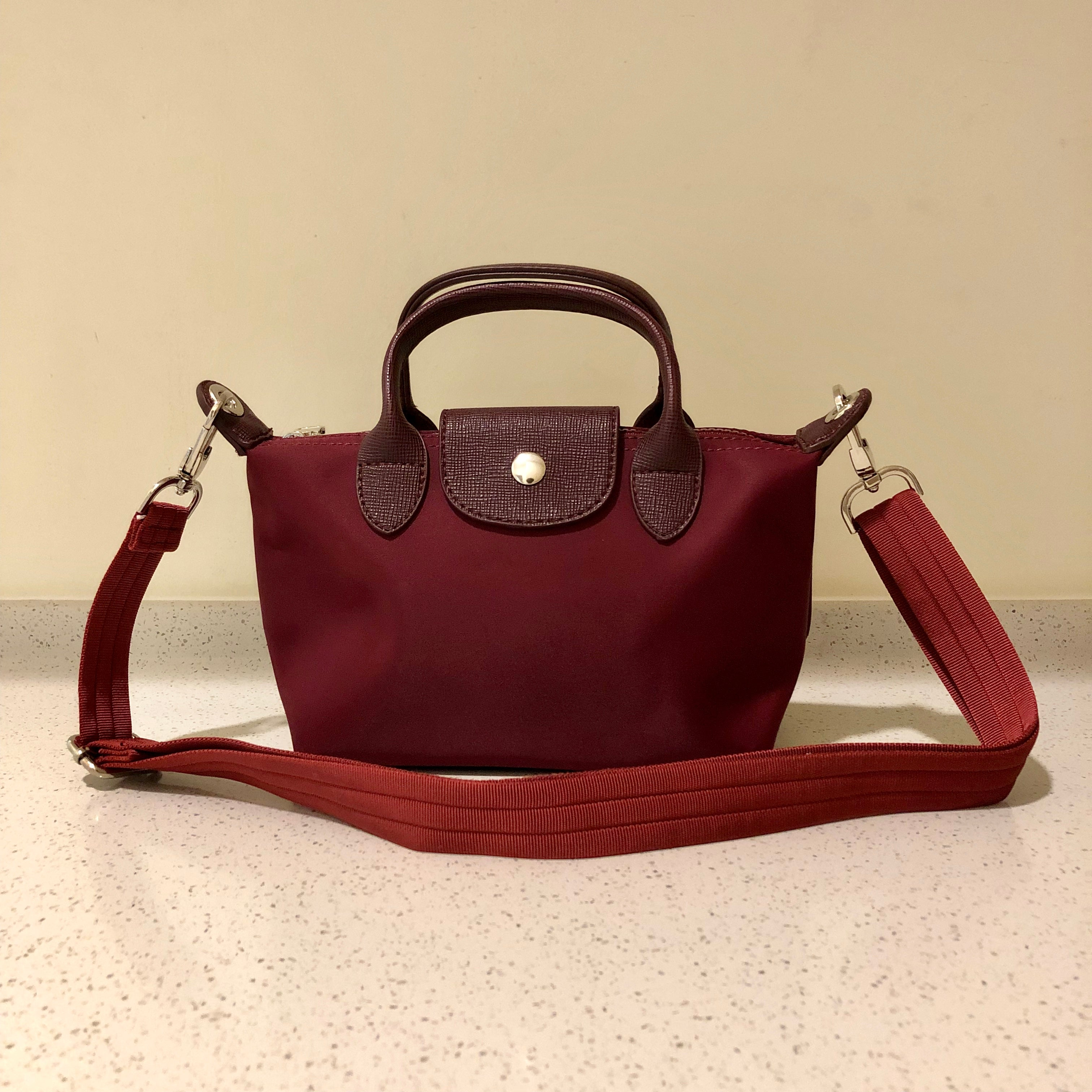 Kate Nylon Tote Bag Maroon
