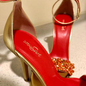 Crystine Heels Red