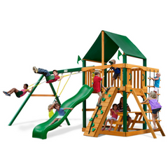 Gorilla Chateau Swingsets In Natural Cedar Or Timber Shield™ Post