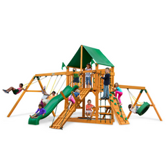 Gorilla Frontier Swingsets In Natural Cedar Or Timber Shield™ W/Slides