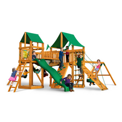 Gorilla Pioneer Peak Swingset W/Sunbrella, Malibu, Treehouse And Fort