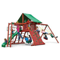 Gorilla Sun Valley Cedar Swing Set With Redwood Finish & Roof