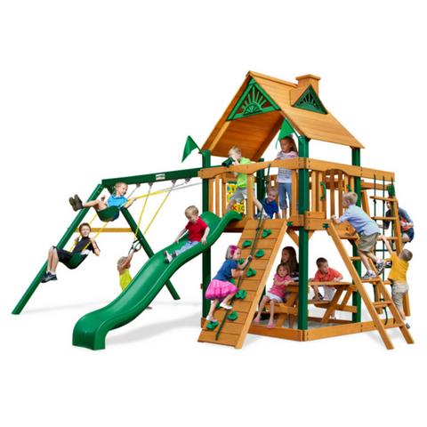 Gorilla Navigator Swingsets In Natural Cedar Or Timber Shield™ Post - Jumpin Jungle