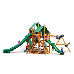 Gorilla Great Skye II Swingset In Natural Cedar Or Timber Shield™ Post