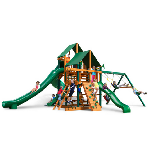 Gorilla Great Skye II Swingset In Natural Cedar Or Timber Shield™ Post - Jumpin Jungle