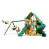 Image of Gorilla Mountaineer Clubhouse Swingset W/Sunbrella, Malibu & Treehouse - Jumpin Jungle