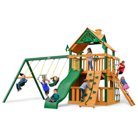 Gorilla Chateau Clubhouse W/Fort Add-On Treehouse And Sunbrella® Roof - Jumpin Jungle