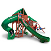 Image of Gorilla Sun Valley Cedar Swing Set With Redwood Finish & Roof - Jumpin Jungle
