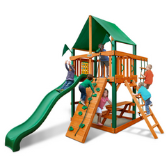 Gorilla Chateau Tower Grade Cedar Swing Set With Roof